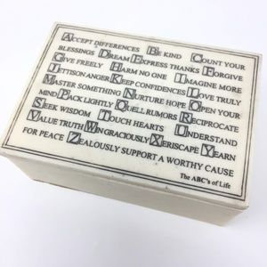 Other - The ABC's of Life R. Stewart 2005 Faux Marble Box